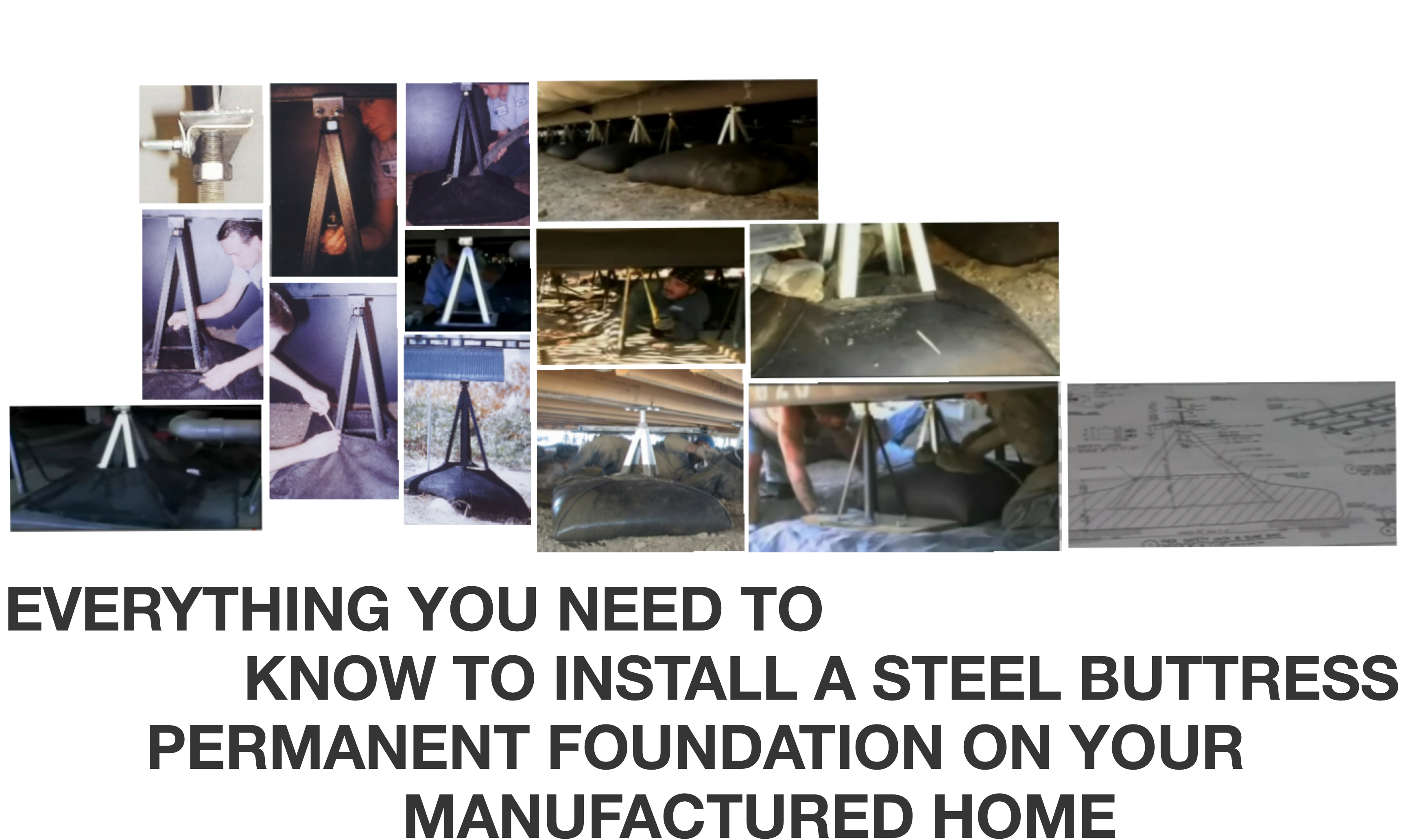 Steel Buttress Permanent Foundation System   Sure Safe